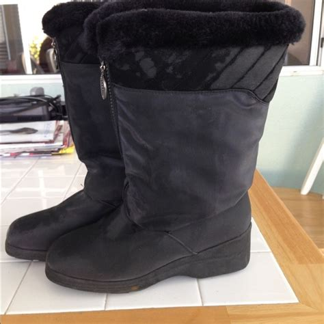 boston accent boots black weather proof womens