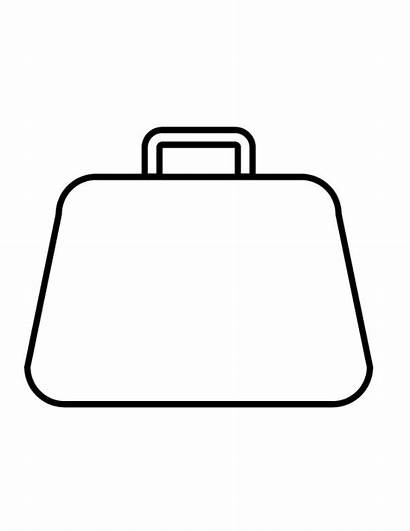 Purse Coloring Pages Printable Outline Shopping Clipart