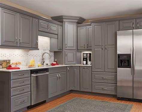 kitchen with gray cabinets gray cabinets from mid continent cabinetry kitchens 6514