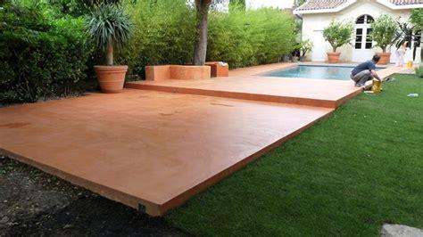 beton cire exterieur piscine terrasse piscine en beton cire
