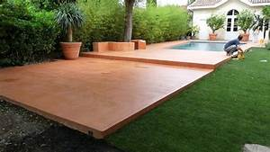 beton colore pour terrasse swyzecom With terrasse en beton colore