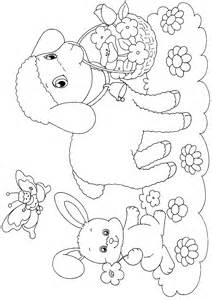Easter Lamb Coloring Pages Printable