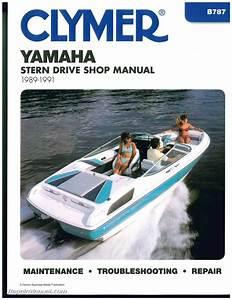 Yamaha Stern Drive 1989 1990 1991 Clymer Boat Engine