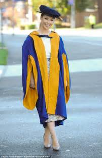 graduation gown piper receives honorary degree from anglia ruskin