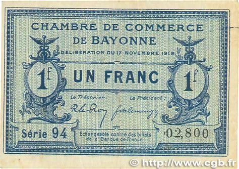 chambre de commerce bayonne 1 franc régionalisme et divers bayonne 1919 jp 021