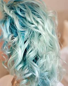 Curly Pastel Blue Hair Colors Ideas