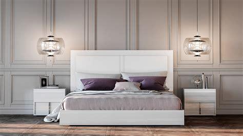 italian modern bed modrest nicla italian modern white bed