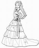 Barbie Coloring Pages Dress Drawing Dresses Sketch Printable Gown Colouring Princess Sheets Coloringpagesfortoddlers Colorings Getcolorings Getdrawings Templates Prom Template sketch template