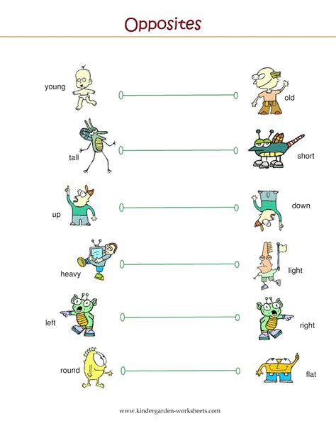 opposites kindergarten worksheets kindergarten finding
