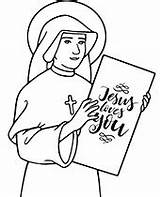 Coloring Nun Christian Holding Paper Topcoloringpages sketch template