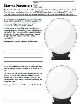 making predictions worksheet by mrscurts teachers pay teachers