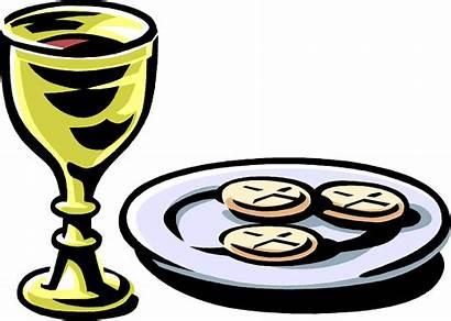 Communion Clipart Chalice Bread Wine Eucharist Wafer