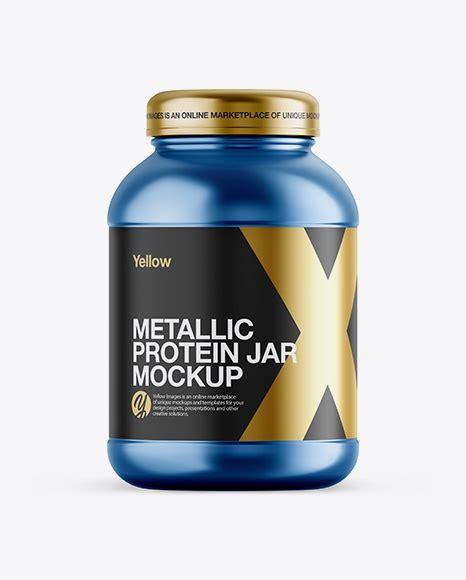 Jar mockups object mockups packaging mockups. Glossy Plastic Protein Jar Mockup - Front View - Matte ...
