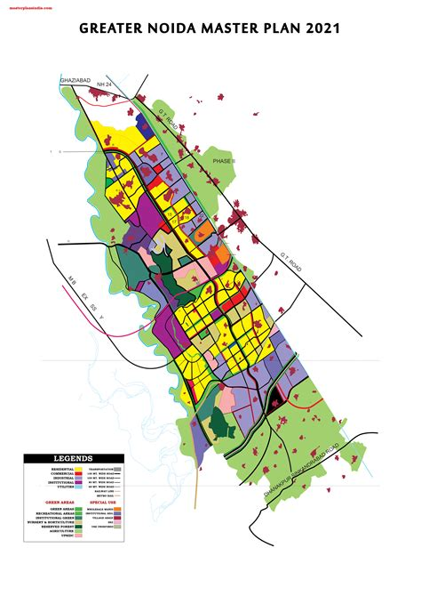 greater noida master development plan  map