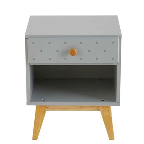 affiche chambre garcon table de chevet enfant 1 tiroir gris clair april maisons