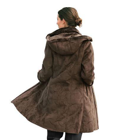 manteau interieur fausse fourrure manteau doubl 233 fausse fourrure vue 1