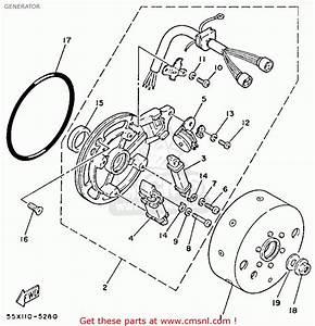 Yamaha Yfm80n Moto-4 1985 Generator