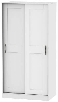 Wide White Wardrobe by Free Standing Sliding Wardrobes Sale Now On Cfs Uk