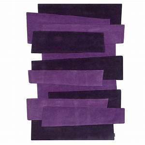 tapis violet prestige de couloir design pebbles par angelo With tapis de couloir avec le canapé le plus cher du monde