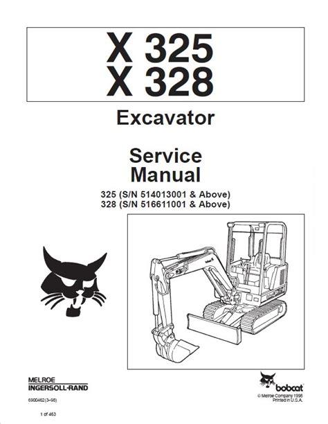 bobcat     excavator service manual