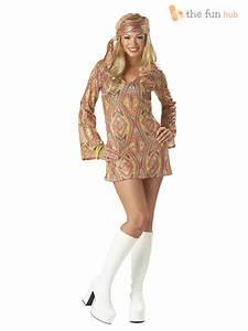 Ladies 1970s Sequinned Disco Fancy Dress Costume Adult Womens Size 8 10 12 14   eBay