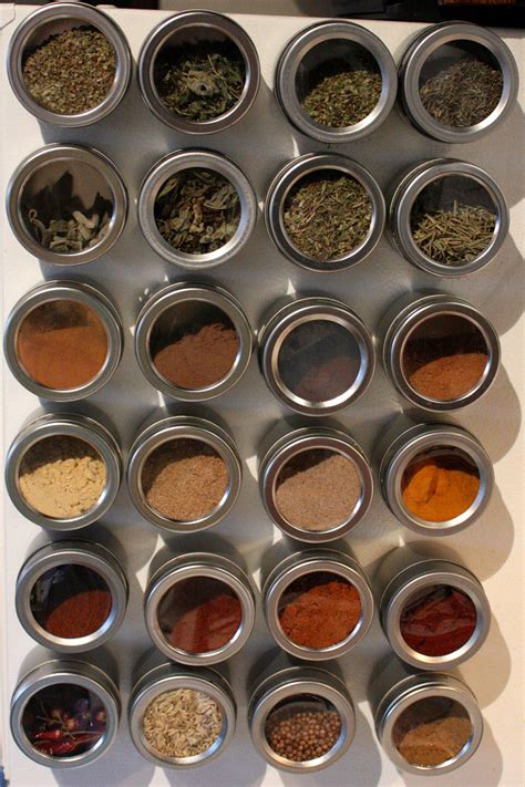 magnetic spice rack space solutions magnetic spice tins