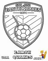 Coloring Soccer Pages Earthquake Logos Earthquakes Jose San Sheets Drawing Printable Mls Boys Usa Getdrawings Bright Choose Colors Favorite Sports sketch template