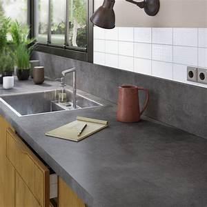 cuisine grise plan de travail bois galerie et plan de With plan de travail cuisine gris anthracite