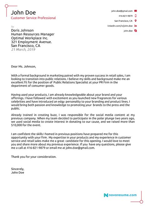 professional application letter samples templates
