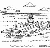 Coloring Pages Carrier Aircraft Printable Uss Sheets Fun sketch template