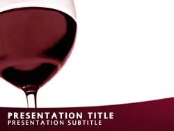 royalty  wine powerpoint template  red