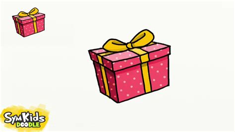 draw  gift box youtube