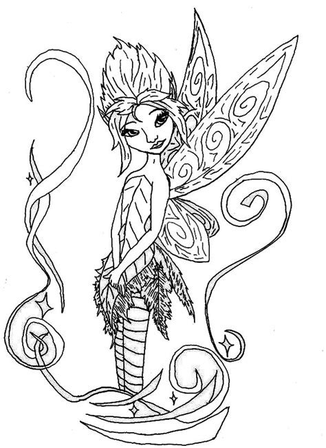 Pixie Hollow Fairies Coloring Page NetArt