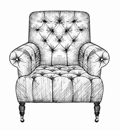 Sofa Chair Sketch Drawing Couch Interior Furniture