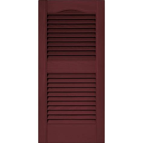 builders edge 15 in x 31 in louvered vinyl exterior
