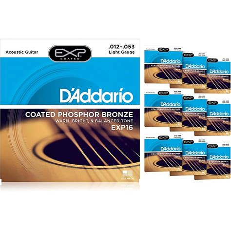 d addario exp16 acoustic strings 10 pack musician s friend