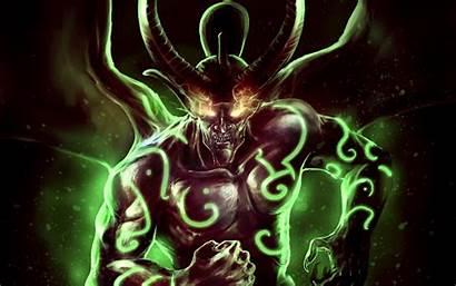Demons Horns Illidan Stormrage Warcraft Dota Artwork