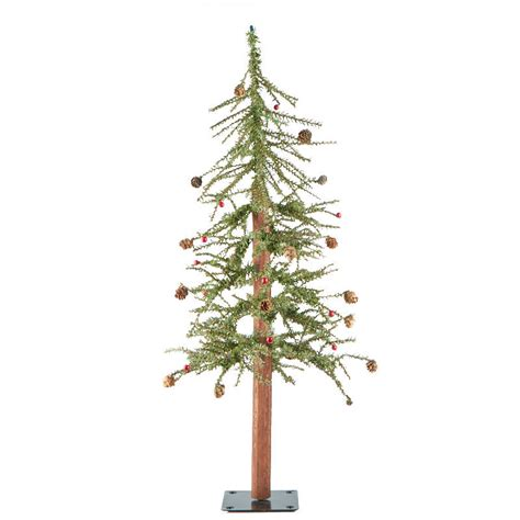 primitive skinny artificial alpine tree trees and