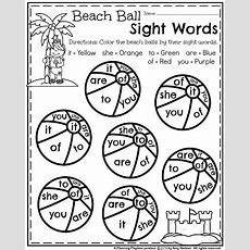 Summer Kindergarten Worksheets  Kindergarten Worksheets And Beach Ball