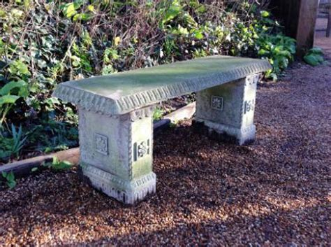 small decorative bench in from the vintage garden