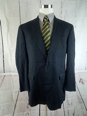 austin reed dillards  button mens blue plaid suit