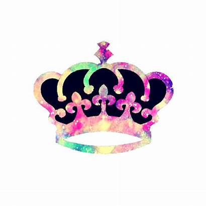 Princess Tiara Crown Silhouette Colorful Girly Clipart
