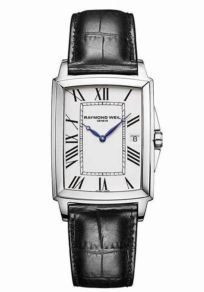 Raymond Weil Rectangular Watches Mens Luxury Leather