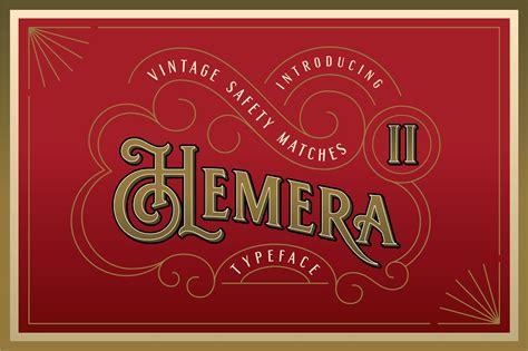 Hemera II - Vintage Decorative Font ~ Serif Fonts ...