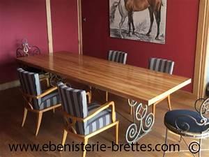 Pied En Fer Forgé : fabricant de table rectangulaire de repas au pays basque ebenisterie brettes ~ Teatrodelosmanantiales.com Idées de Décoration