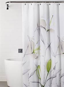 Rideau De Douche : le rideau de douche lys blanc simons ~ Voncanada.com Idées de Décoration