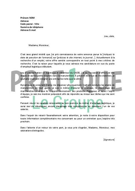 lettre de motivation secretaire debutant technicien logistique emploi ccmr