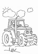 Coloring Farm Tractor sketch template