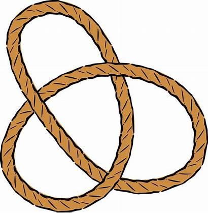 Knot Trefoil Clipart Clip Transparent Rope Pretzel
