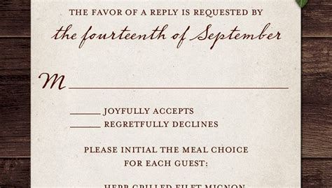 Wedding RSVP Wording and Card Etiquette 2019 The Wedding